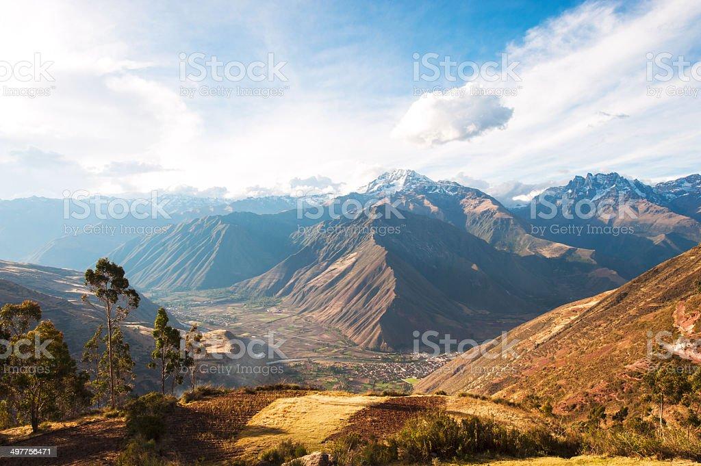 Sacred Valley Urubamba, Peru stock photo
