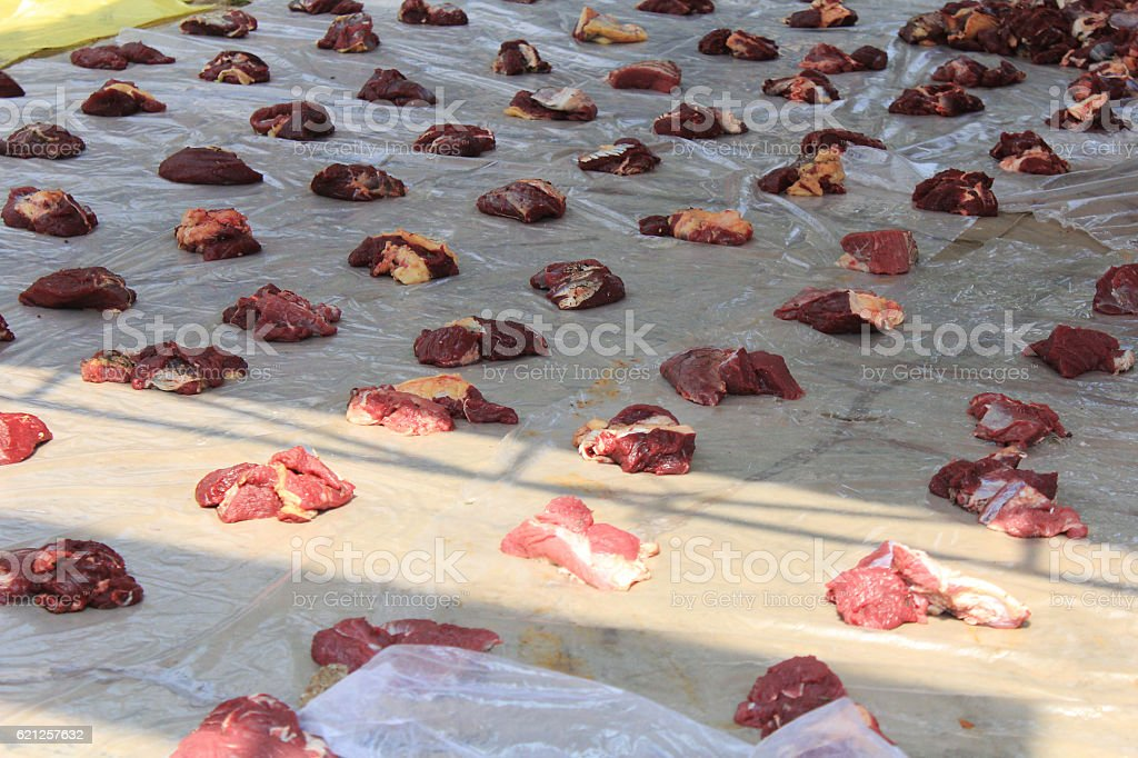 sacrifice meat stock photo