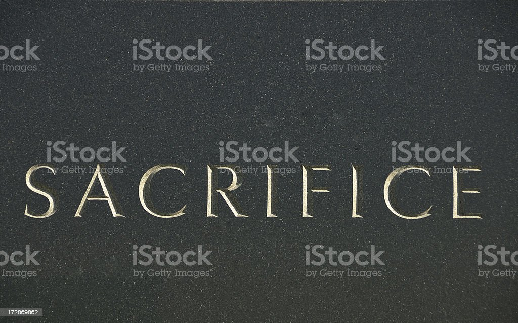 Sacrifice stock photo