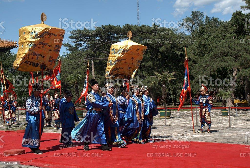 Sacrifice ritual, Changping, China stock photo