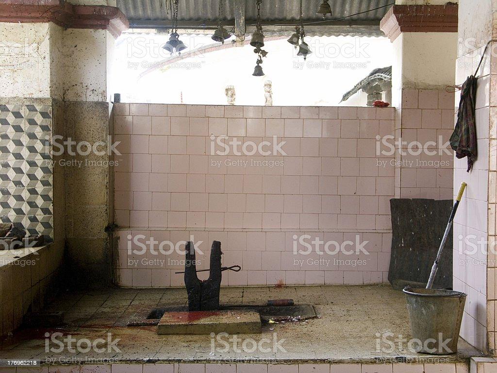 Sacrificial altar stock photo