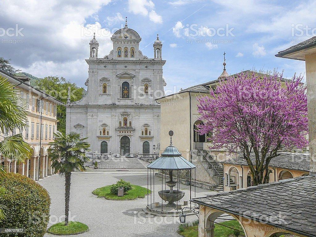 Sacro Monte Varallo stock photo