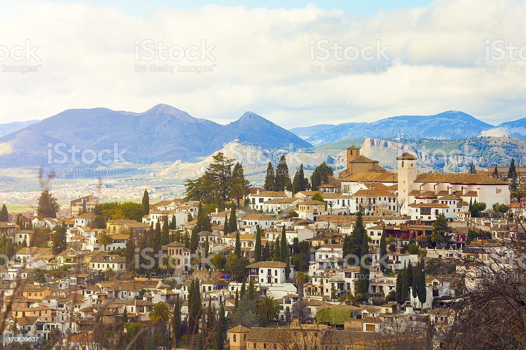 Sacromonte district in Granada stock photo