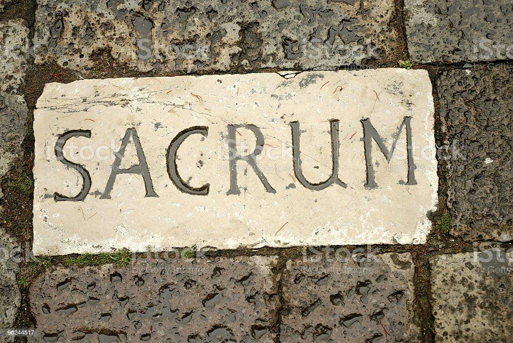 sacrum royalty-free stock photo