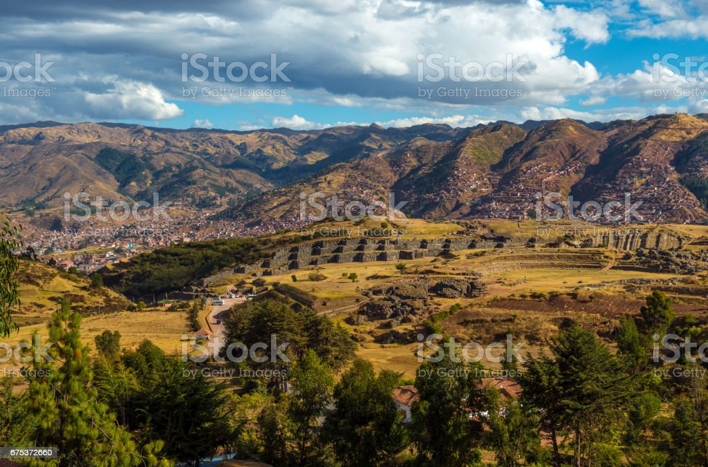Sacsayhuaman Landscape stock photo