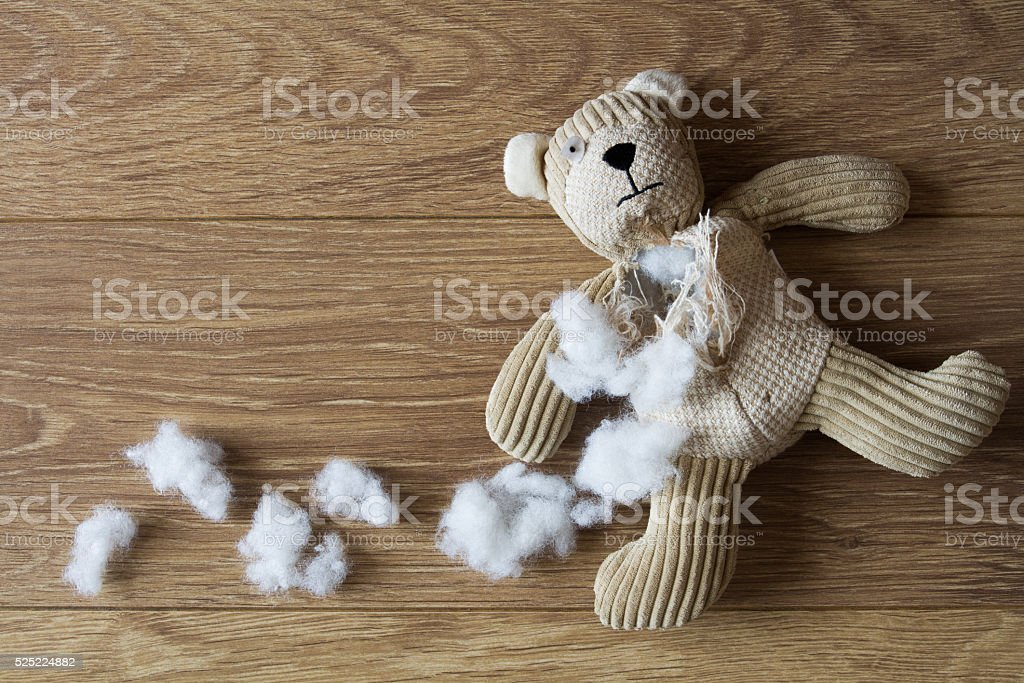 Sad, Abandoned Teddy bear stock photo