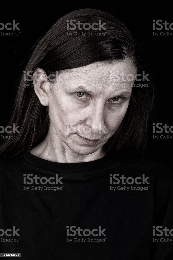 Sad Adult Woman Expression stock photo
