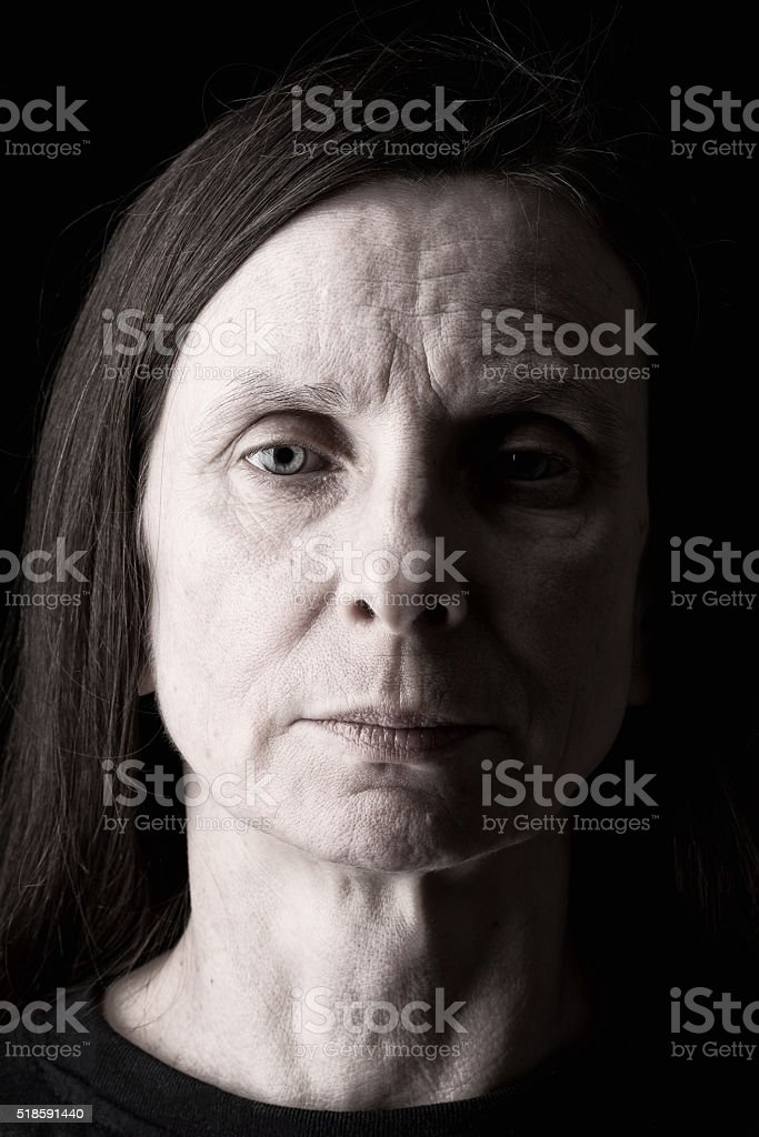 Sad Adult Woman Expression stock photo