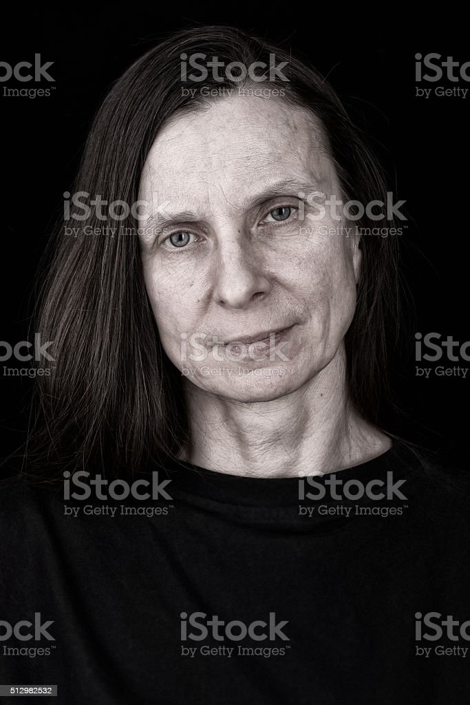 Sad and Depressed Adult Woman Expression stock photo