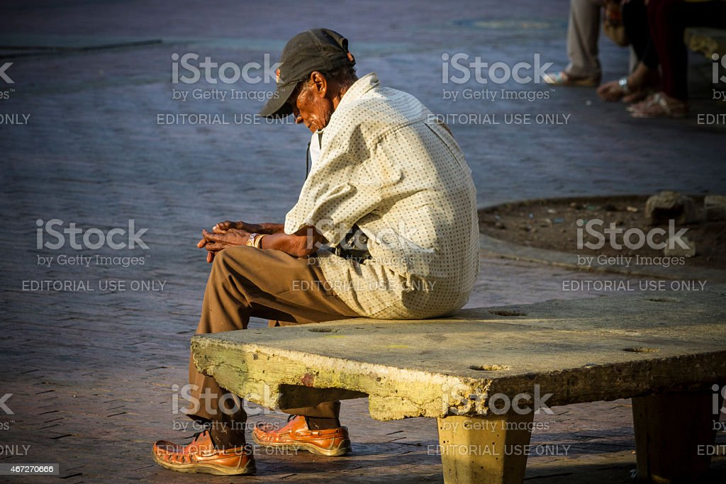 Sad and lonely man stock photo