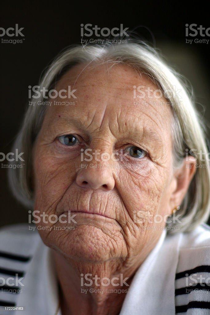 Sad and Longing Senior royalty-free stock photo