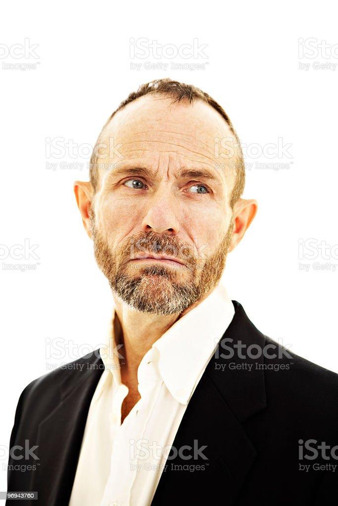 Sad and melancholic senior man royalty-free stock photo