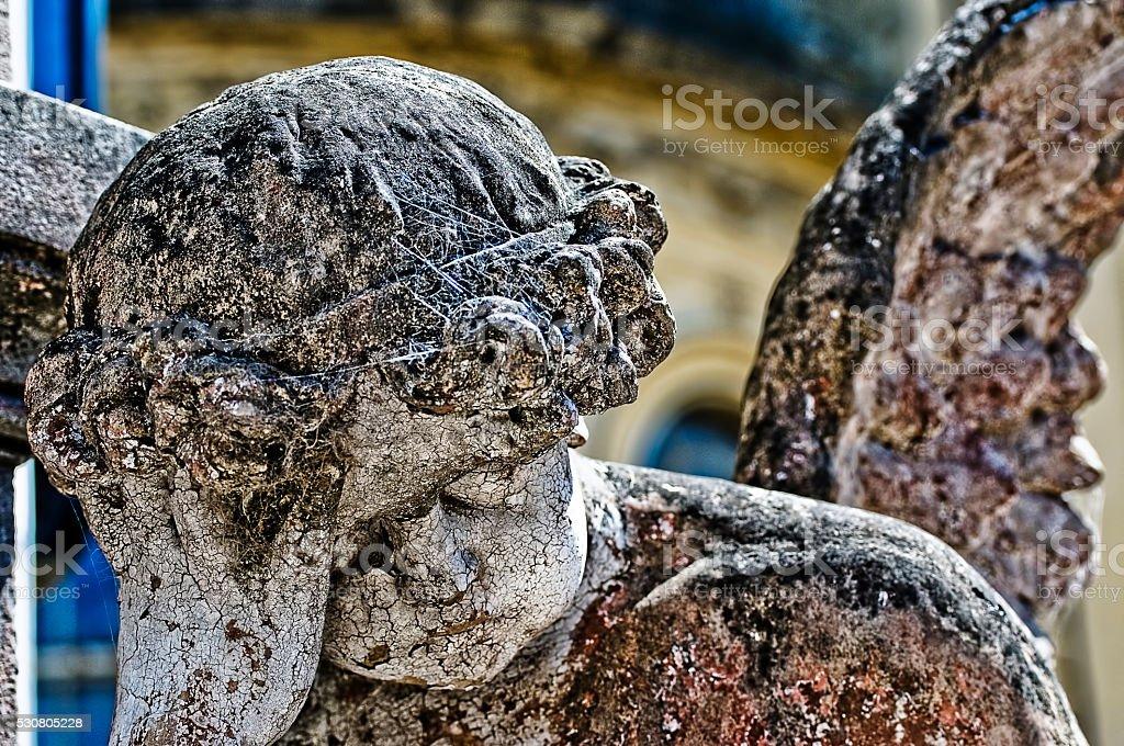 Sad Angel Sculpture stock photo