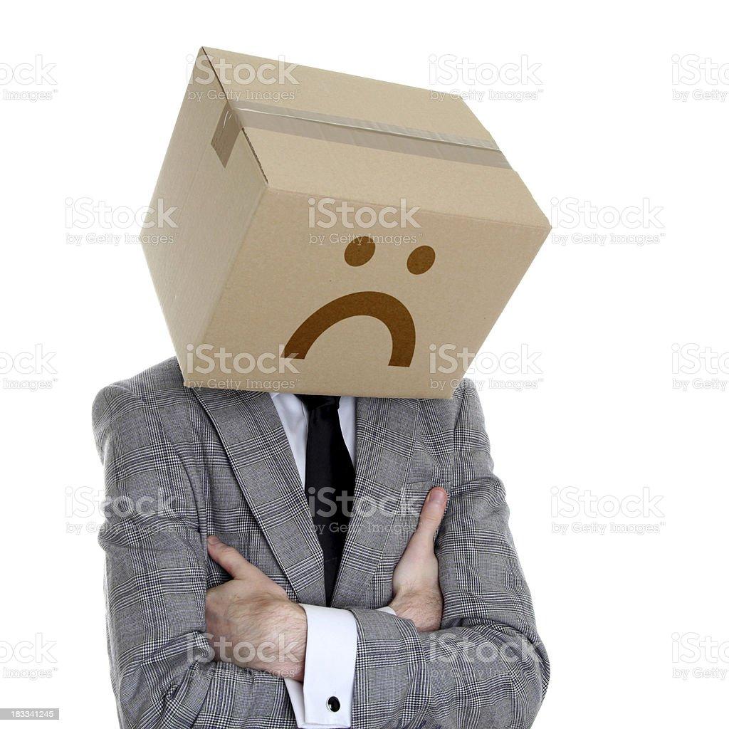 Sad box royalty-free stock photo