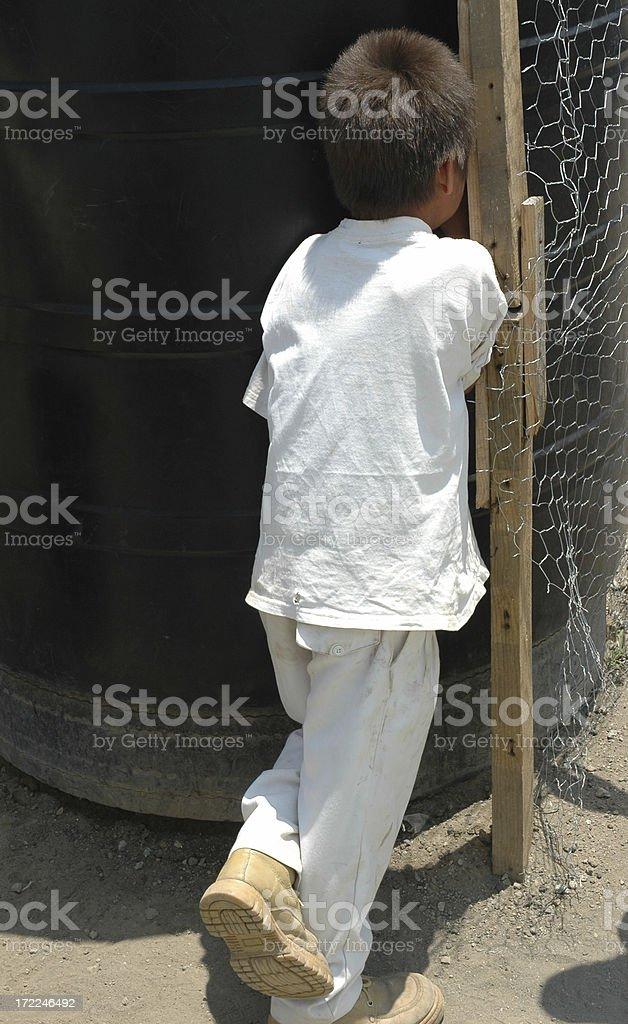 Печальный мальчик Стоковые фото Стоковая фотография