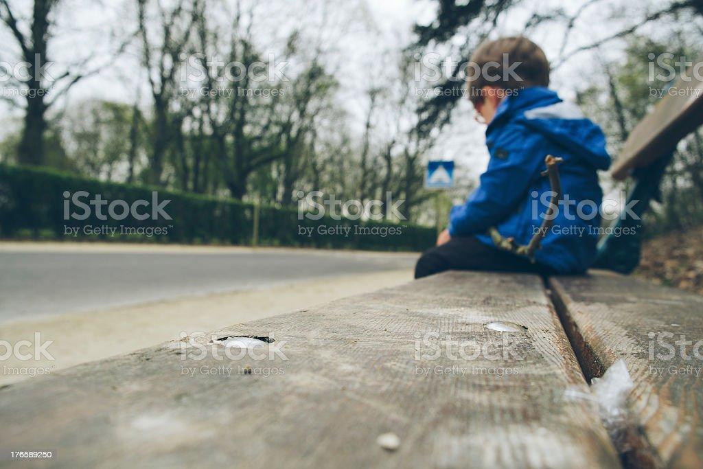Sad boy stock photo