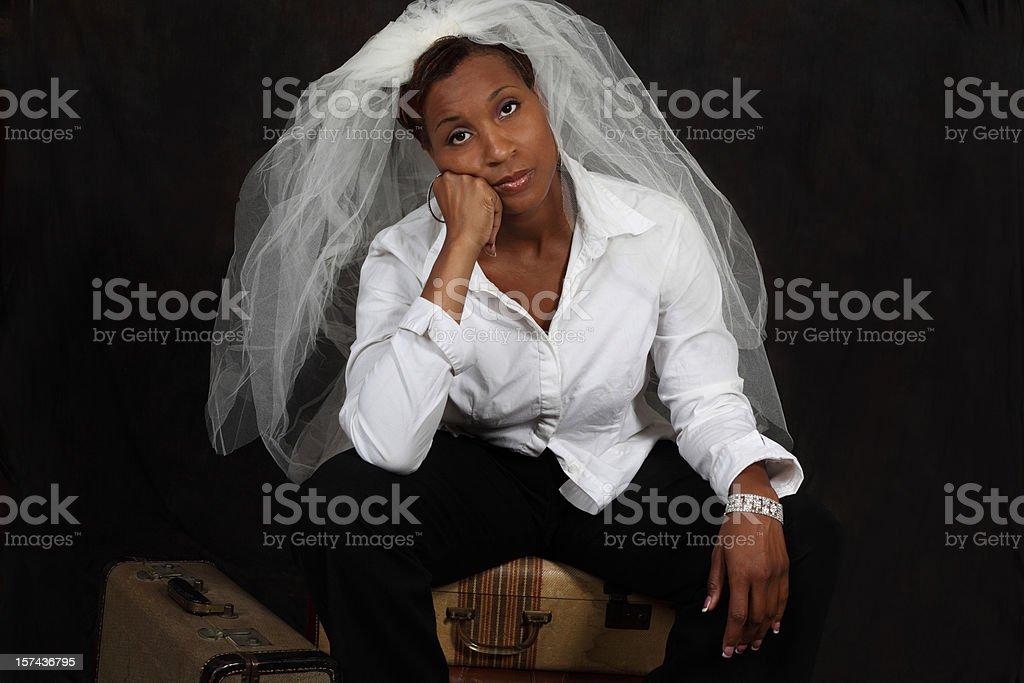 sad bride XXXL stock photo