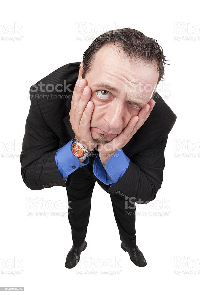 Sad Business Man royalty-free stock photo