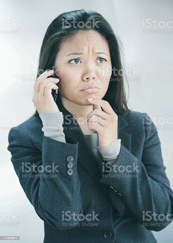 sad business woman royalty-free stock photo
