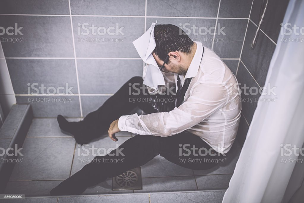 Sad Businessman stock photo