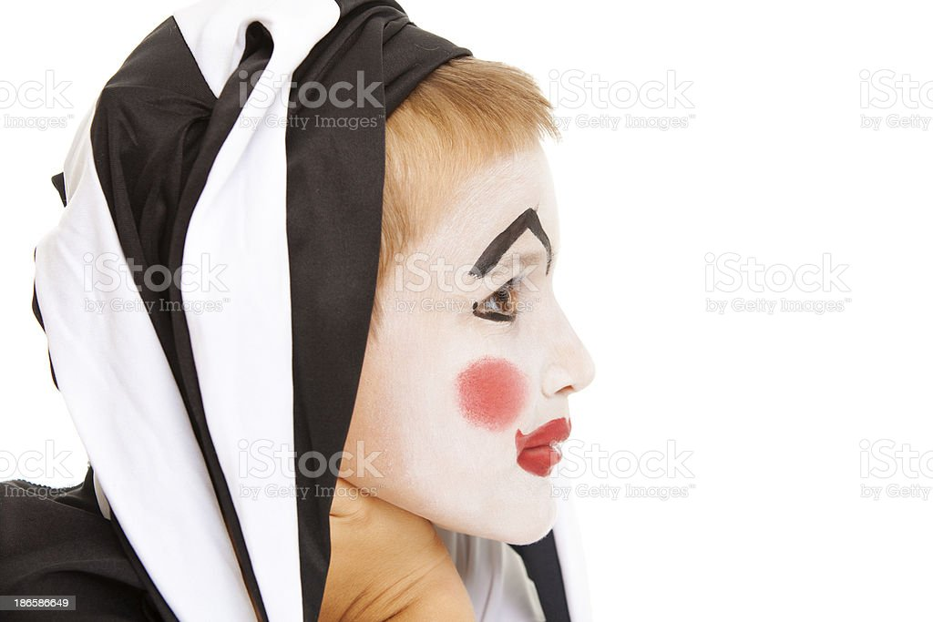 Sad clown royalty-free stock photo