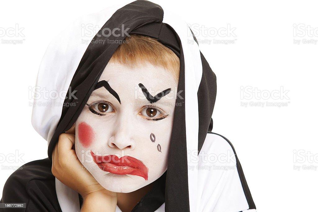 Sad clown royalty-free stock photo