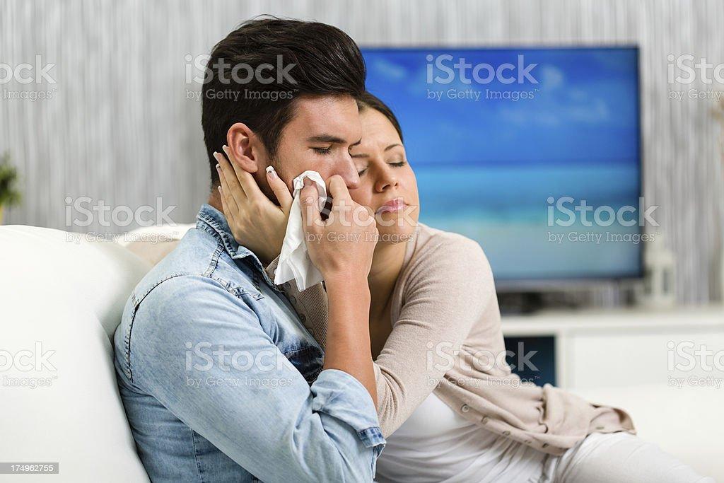 Sad couple royalty-free stock photo