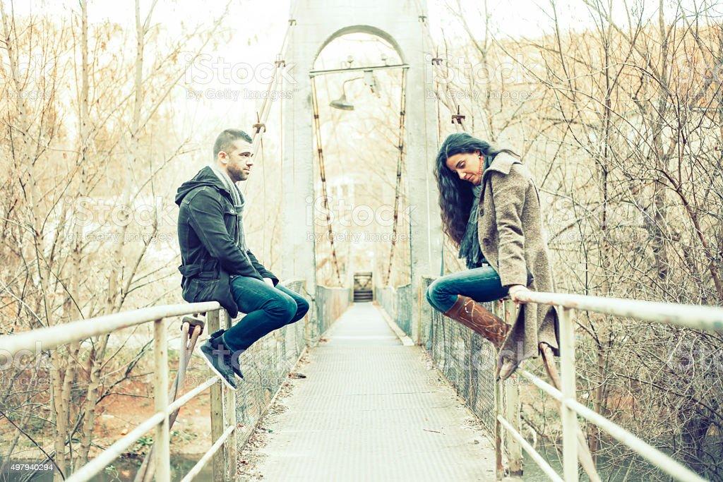 Sad couple stock photo