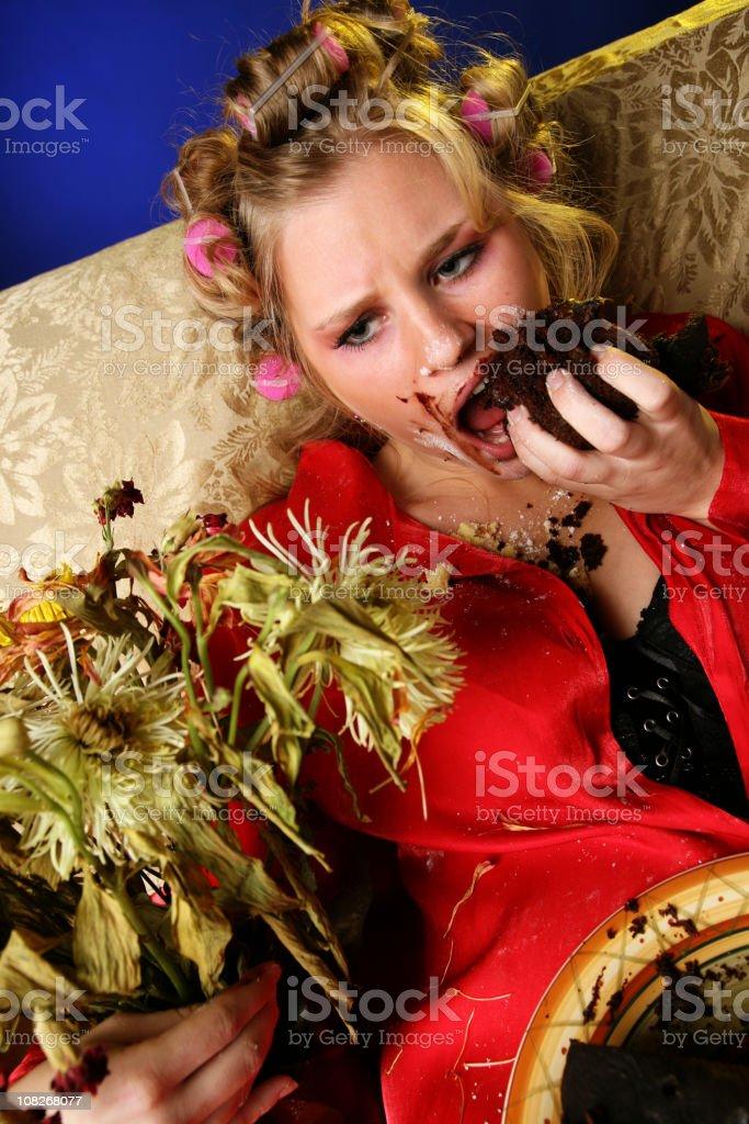 Sad Eating Disorder Addiction royalty-free stock photo