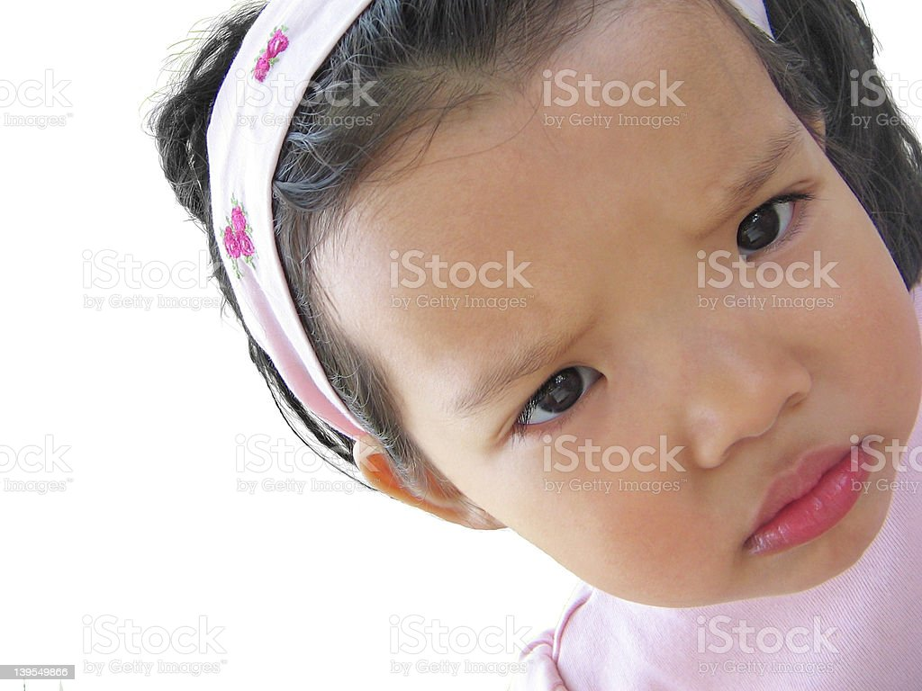 Sad Face look on white royalty-free stock photo
