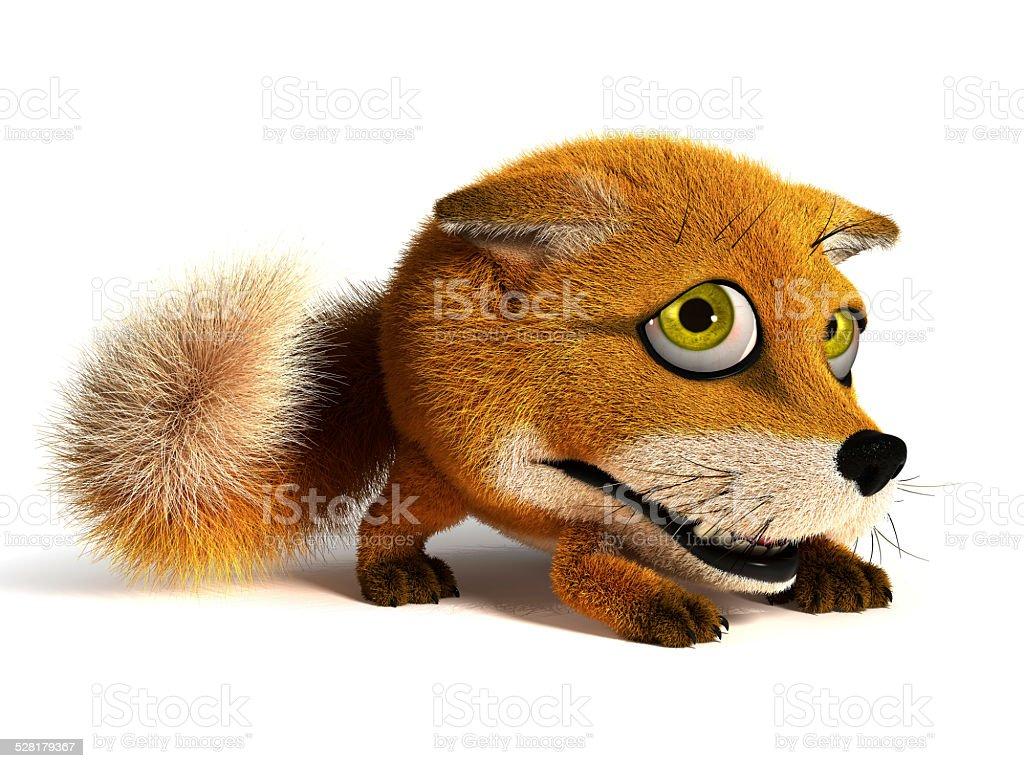 Sad fox stock photo