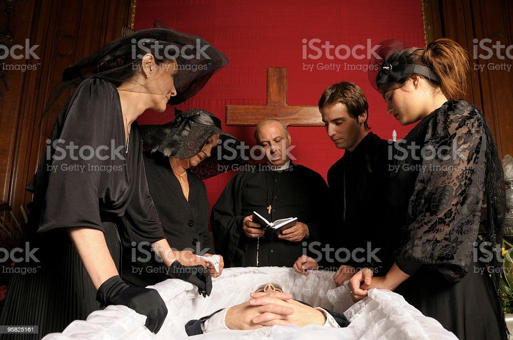 Sad Funeral royalty-free stock photo