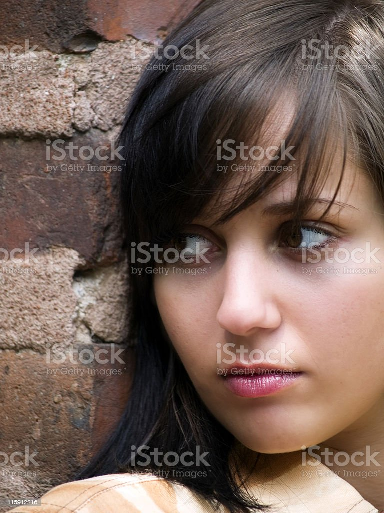 Sad Girl (face close up) royalty-free stock photo