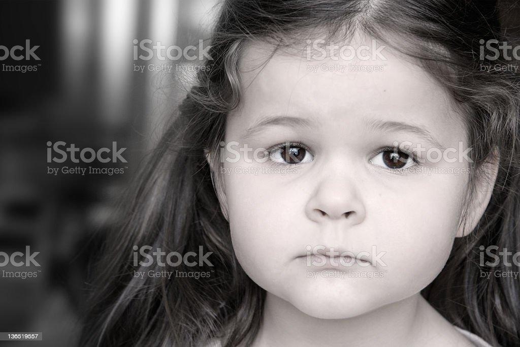 Menina triste foto de stock royalty-free