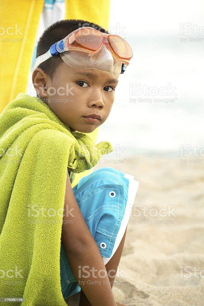 Sad kid royalty-free stock photo