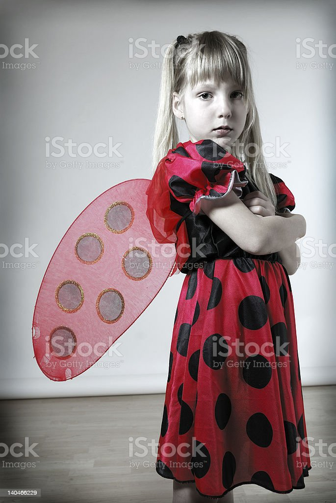 sad ladybird royalty-free stock photo