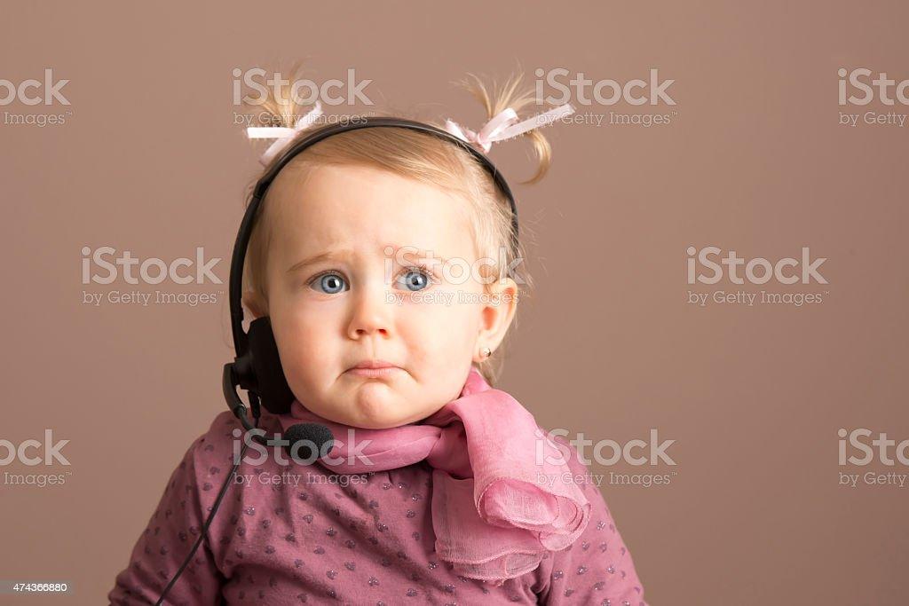 Sad little baby stock photo