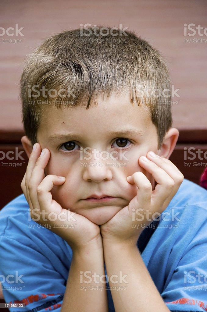 Sad Little Boy royalty-free stock photo
