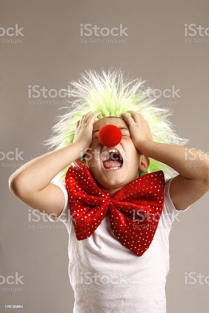 Sad Little Clown royalty-free stock photo