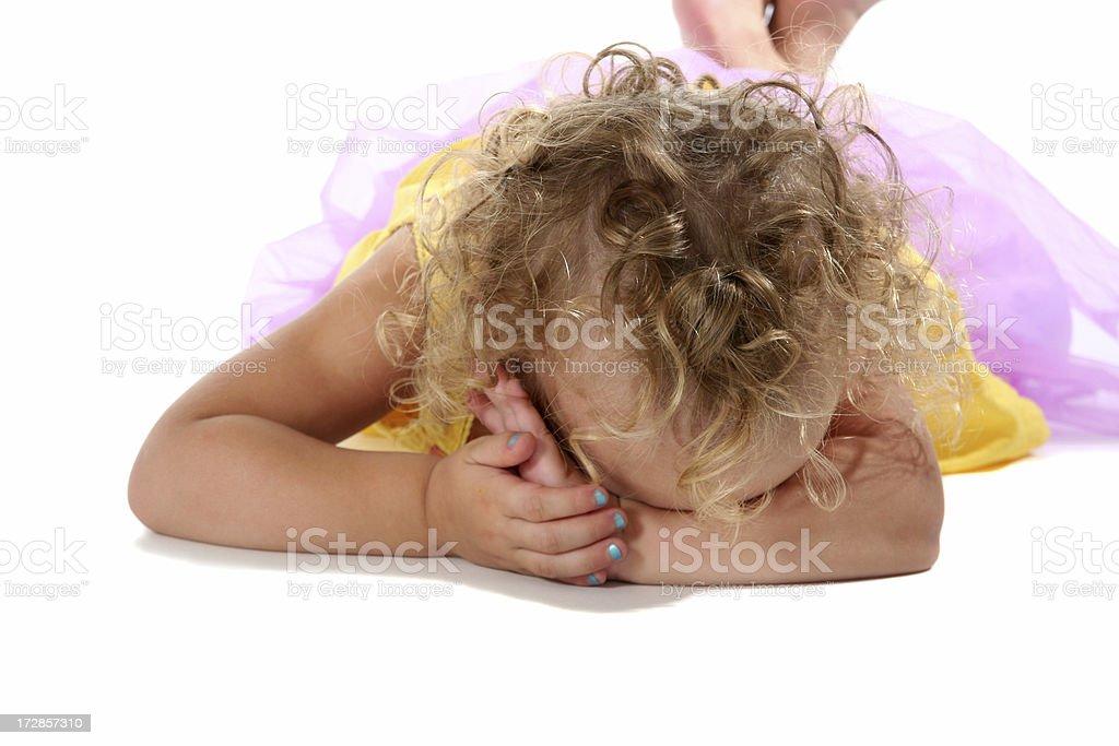 Sad Little Girl royalty-free stock photo