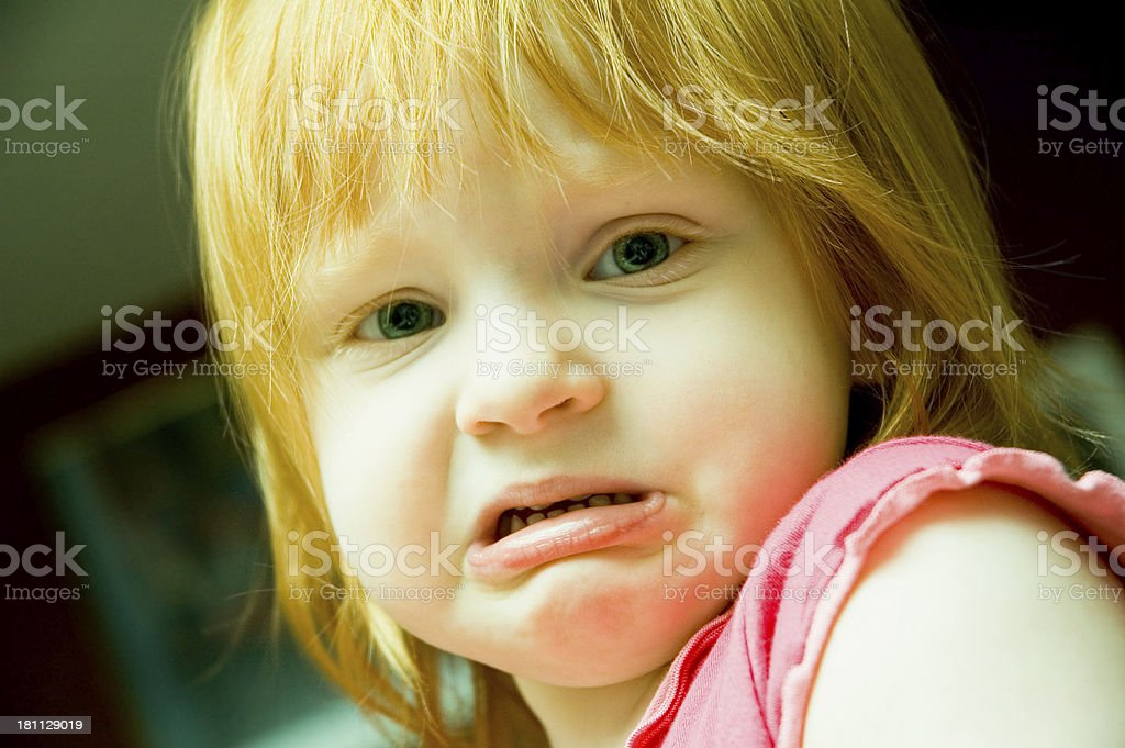 Sad Little Girl stock photo
