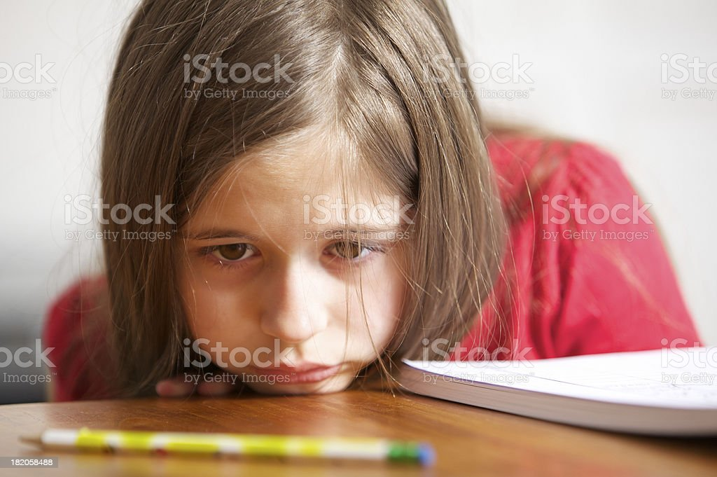 Sad little girl royalty-free stock photo