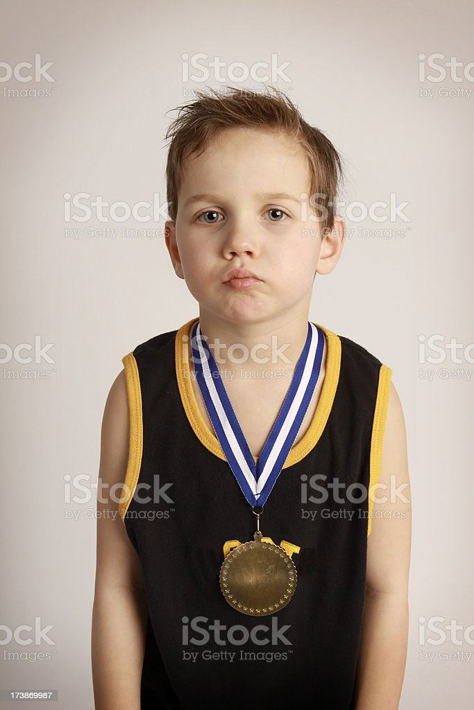 Sad Little Medal Winner royalty-free stock photo