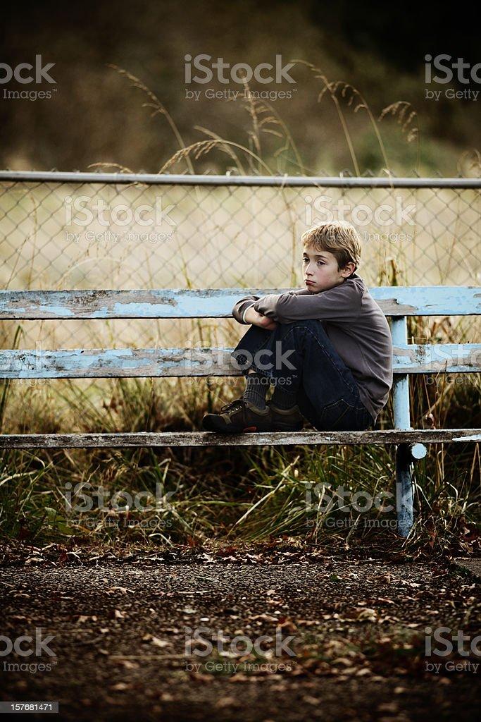 Sad Lonely Boy royalty-free stock photo