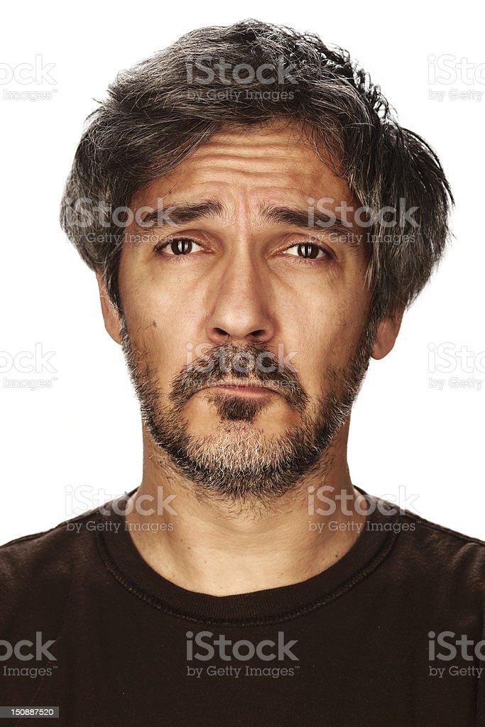 Sad man royalty-free stock photo