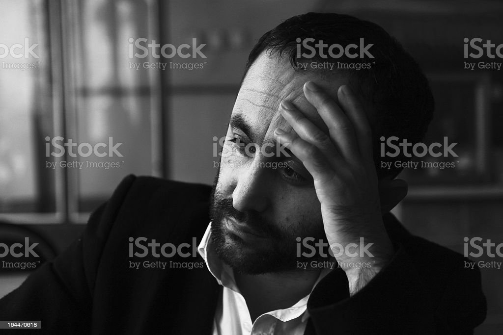 sad man royalty-free stock photo