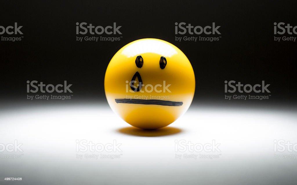 sad miserable crying emoji emoticon stock photo