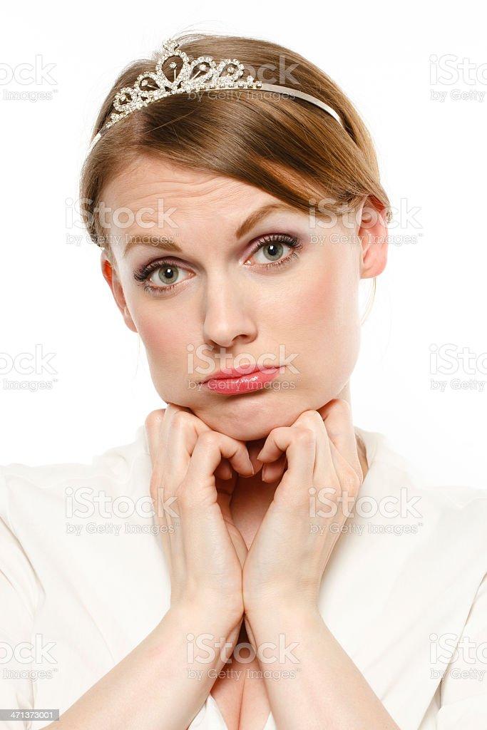 Sad Miss stock photo