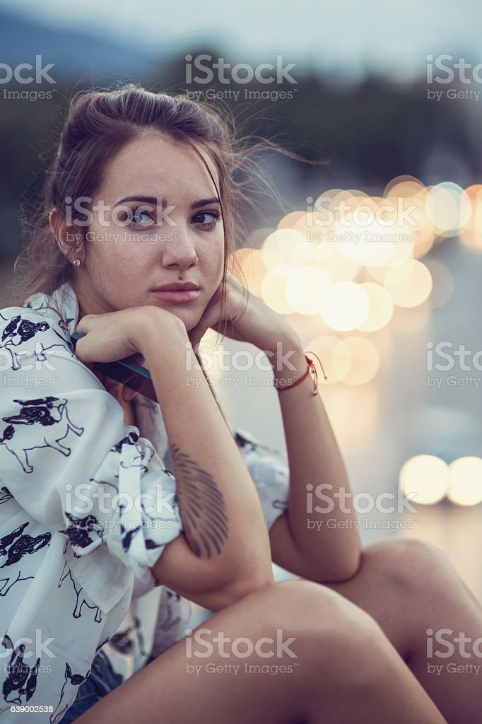 Sad moment stock photo