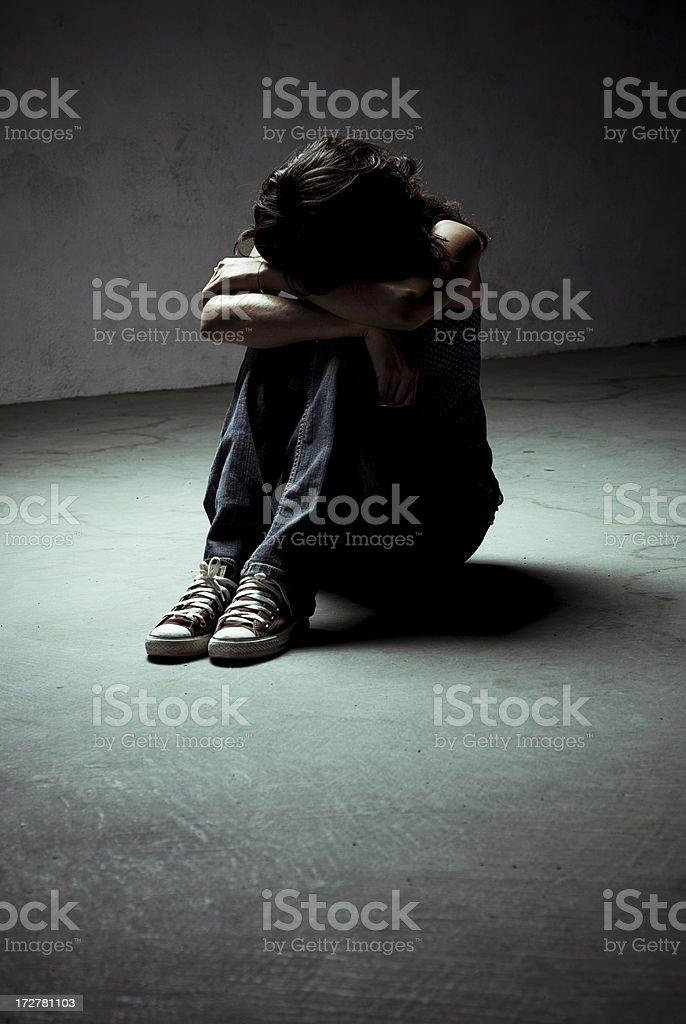 sad moments royalty-free stock photo